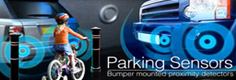 Volkswagen Parking Sensors, front, rear, both in Volkswageno and visual formats